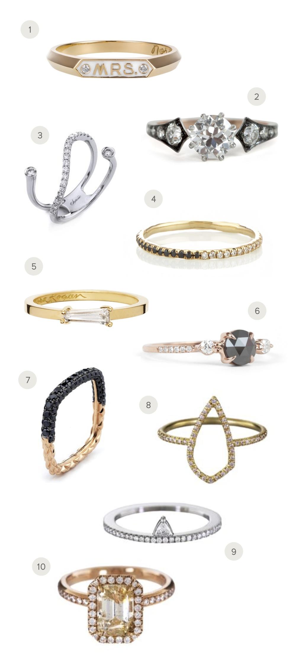 marabou design modern rings