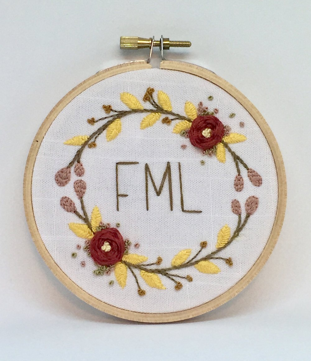 FML embroidery hoop