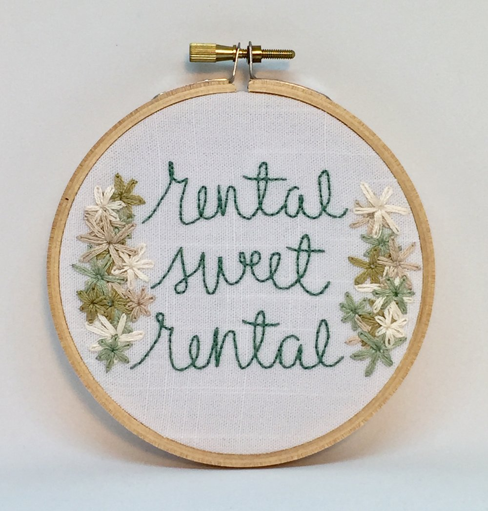 Rental Sweet Rental embroidery hoop