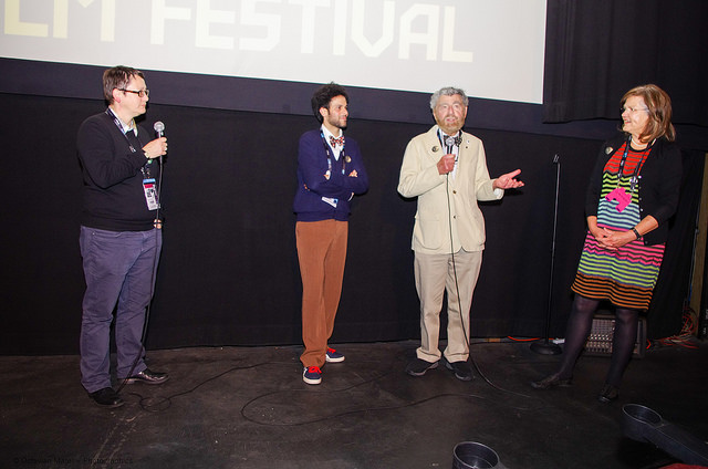 SIFF 2015 | Love Among the Ruins | June 4, 2015. Q&A with Beth Barrett, Director of Programming, SIFF, Massimo Alì Mohammad, Richard Meyer and Susan Harmon. Photo Credit: Kalani Akuna
