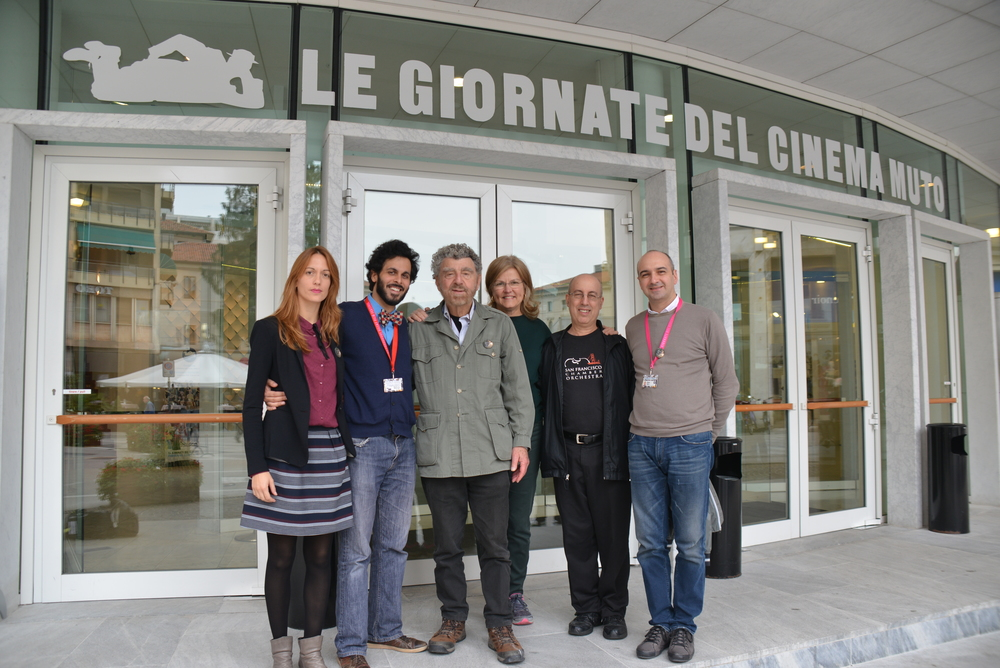 Production designer Elisa Leonini, director Massimo Alì Mohammad, producers Richard Meyer and Susan Harmon, composer Donald Sosin and assistant DP Cristiano Vallieri.