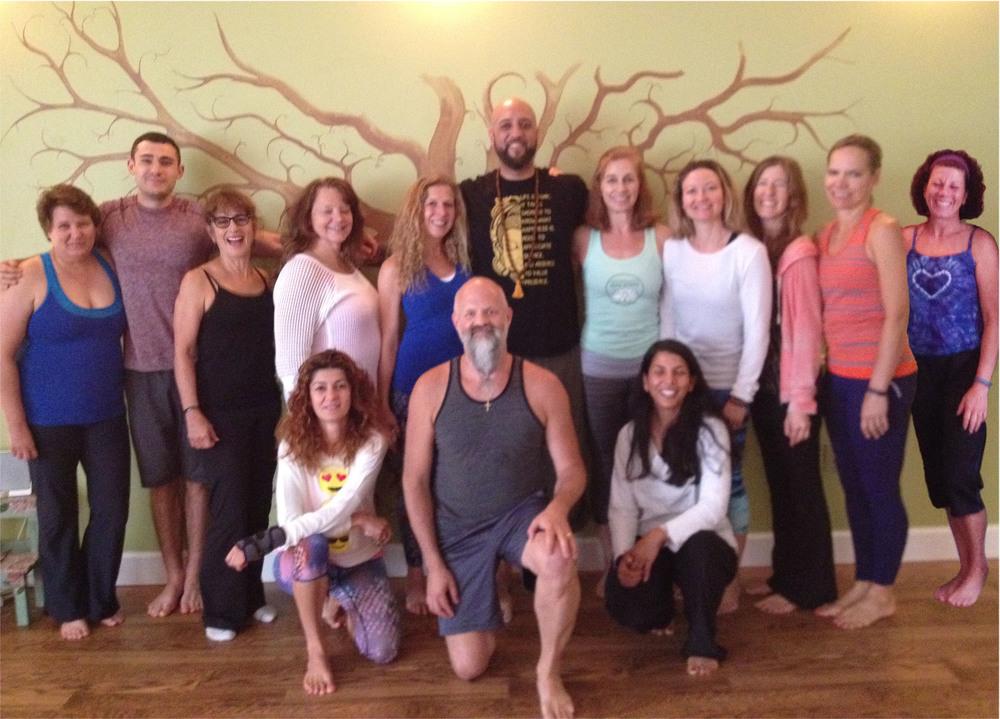 Jafar's Yin Yoga Workshop attendees
