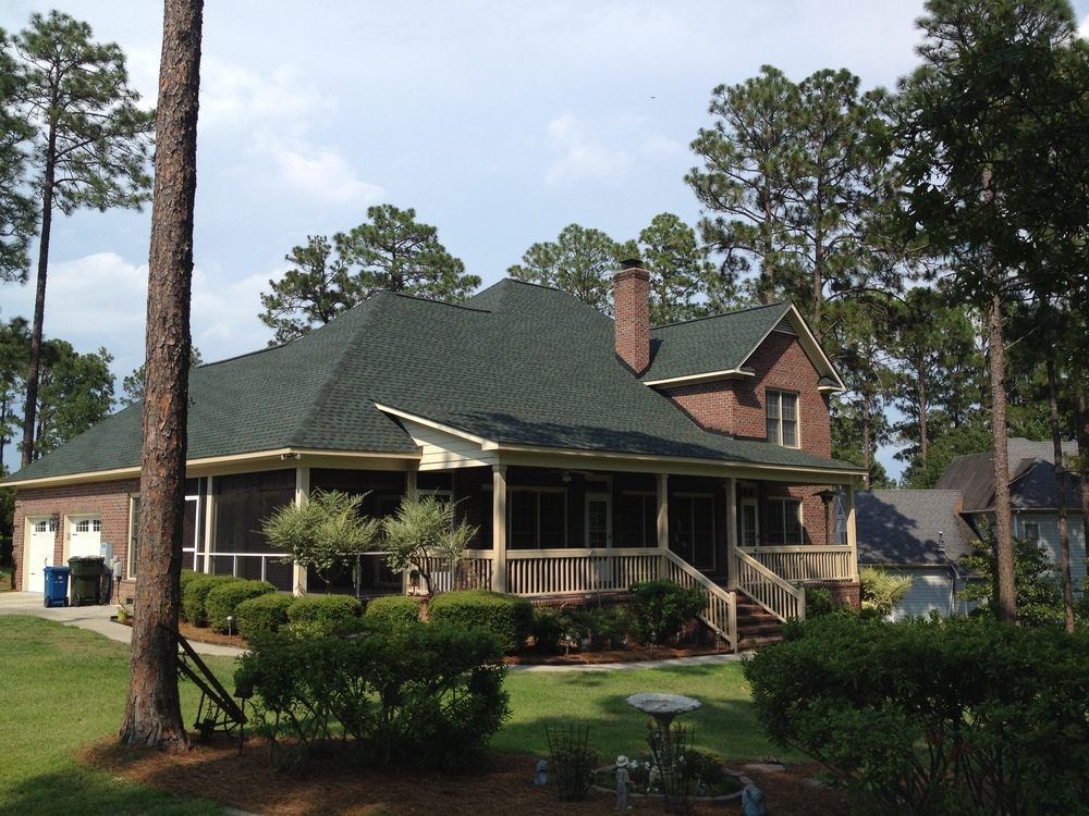 Fayetteville, NC (Rear Elevation)   GAF Timberline HD Hunter Green