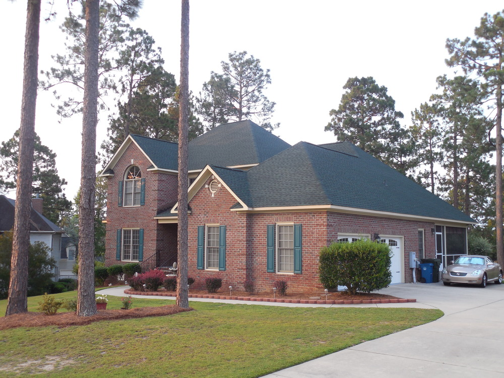 Fayetteville, NC (Front Elevation)   GAF Timberline HD Hunter Green