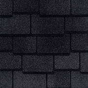 GAF Woodland Lifetime Designer Shingles   Canterbury Black