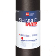 Shingle Mate  Fiberglass-reinforced, asphaltic roof deck protection.