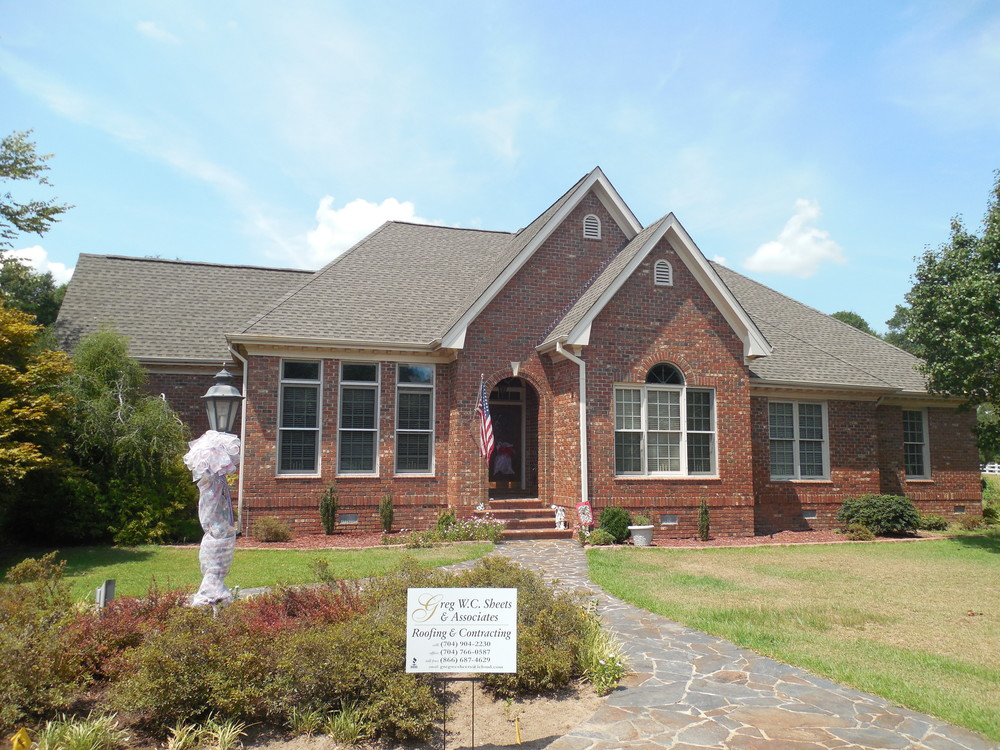 Eastover, NC (Front Elevation)   GAF Timberline HD Weathered Wood