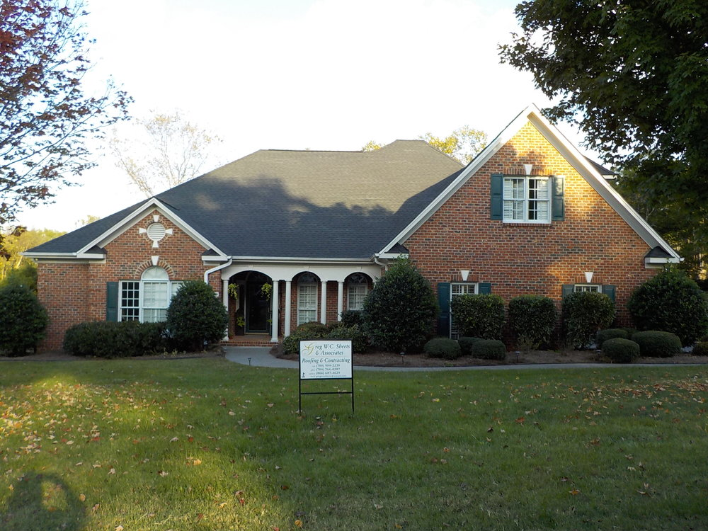 Winston-Salem, NC (Front Elevation)   GAF Timberline HD Charcoal