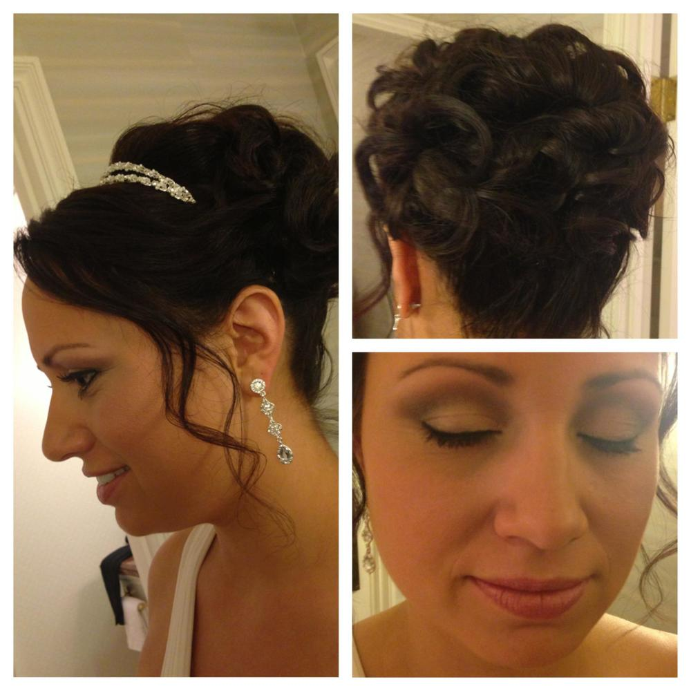 Traditional bridal Hair and makeup