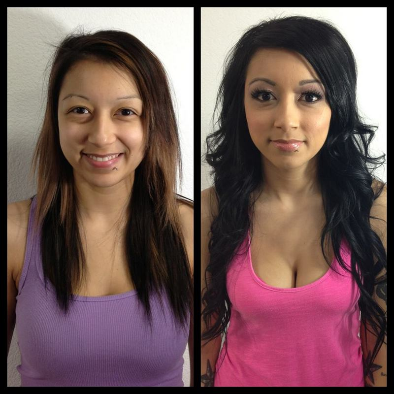 Makeover! hair color, hair extensions, makeup