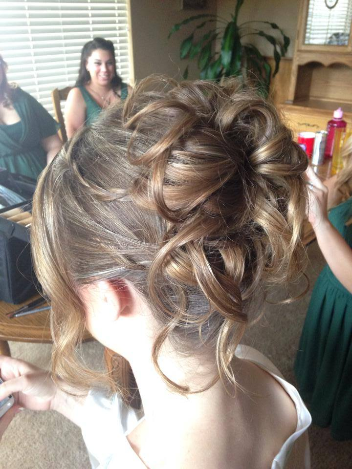 This style is great for a woodsy kind of wedding. Its messy  bun and hanging tendrils give a soft look to a bride. Great for thin hair. Hair texture needed: Thin to Medium Hair length needed: Medium to Long