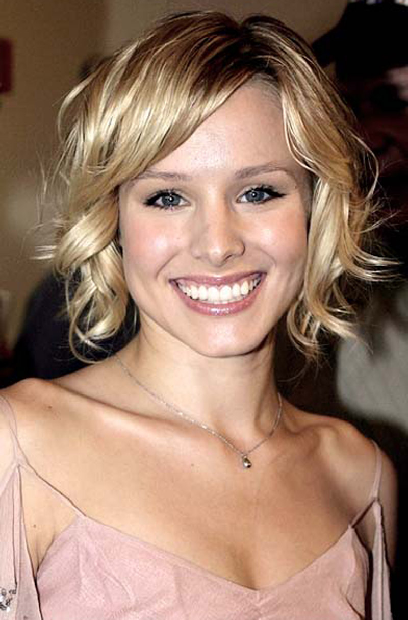 This short style is a great way to break up the normal bob haircut look. This wavy curl is a great way to add body and fullness without looking like curly sue  Hair texture needed: Any Texture  Hair length needed: Short  Recommendations: Make sure you tell your stylist that you want wavy curls so that they don't make the curls to tight and short. A headband style tiara can dress up this style greatly.