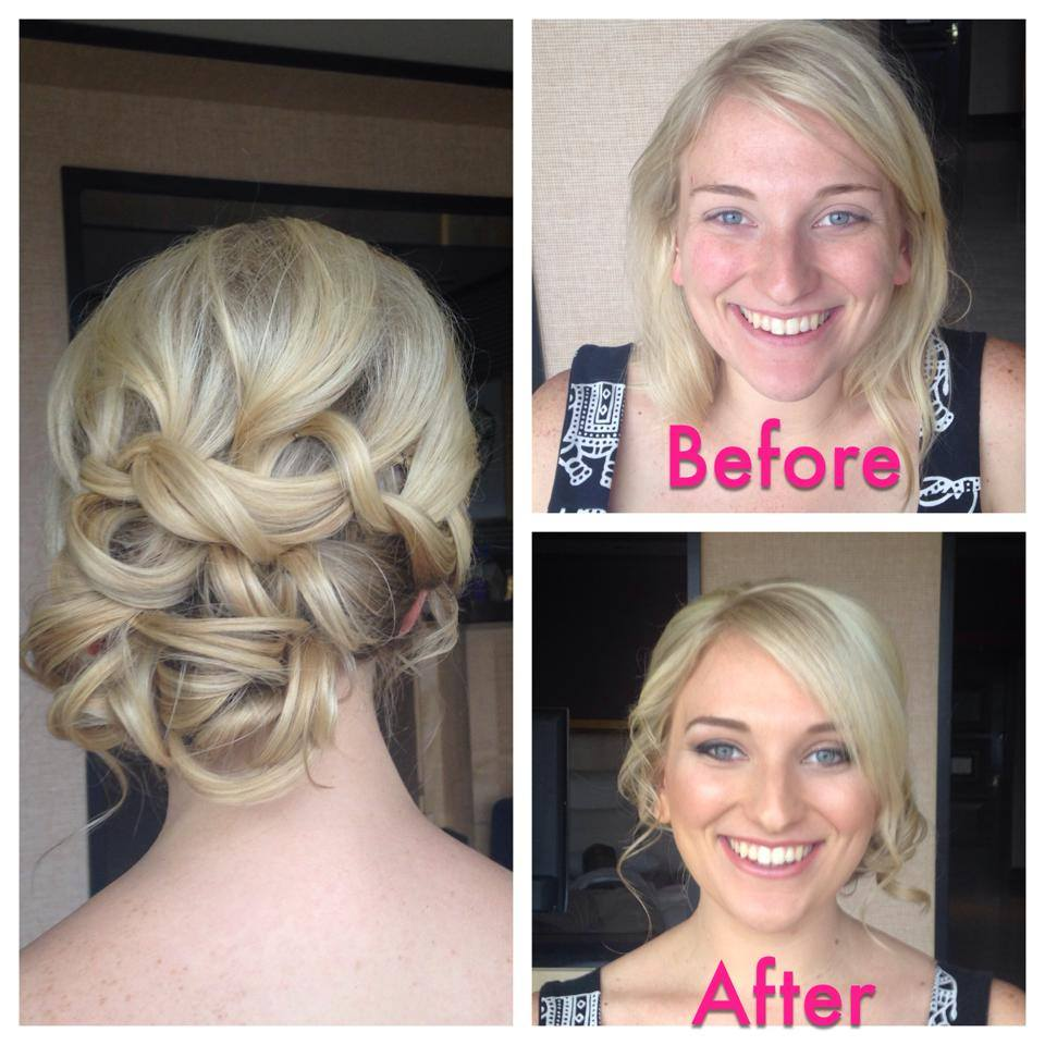 blonde side wedding updo