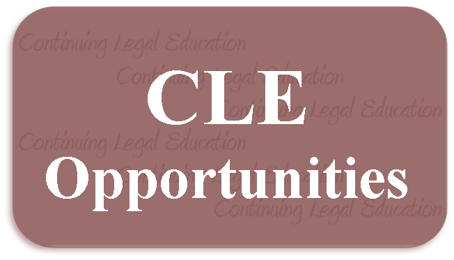 Link to Training Opportunities events list filtered by category to CLE Opportunities