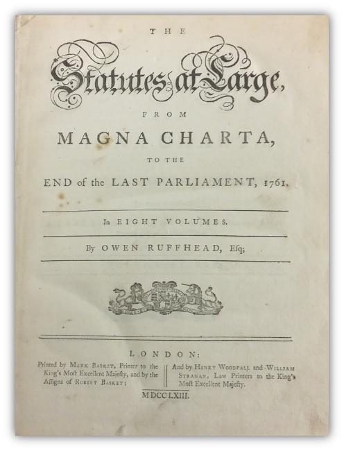 Magna Charta - Ruffhead title page.png