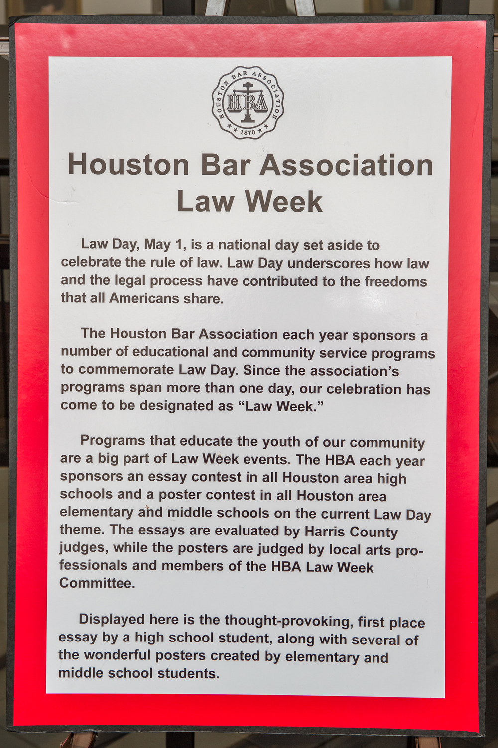digital exhibit magna carta harris county law library the houston bar association law week committee regularly plans activities throughout the city to celebrate the law day theme for an entire week
