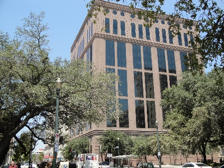 Exterior of Congress Plaza located at 1019 Congress Street, Houston, Texas