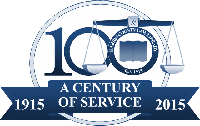 Harris County Law Library Centennial Logo