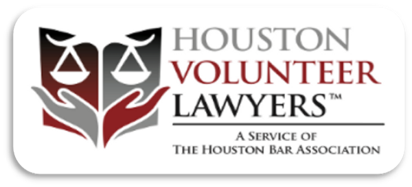 Link to Houston Volunteer Lawyers self-help divorce webpage.