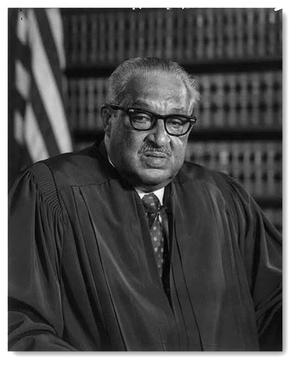 Photo of Justice Thurgood Marshall c. 1976 - click to view Library of Congress catalog record for photo.