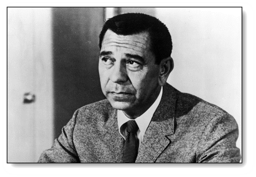 Jack Webb as Joe Friday - Photo to accompany educational material concerning Miranda v. Arizona