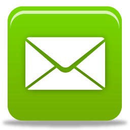 Email envelope surrounded by green app square
