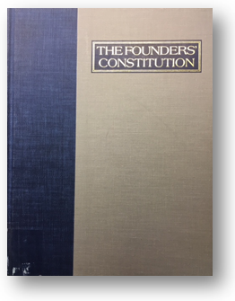 The Founders' Constitution Edited by Philip B. Kurland and Ralph Lerner Published by The University of Chicago Press (1987) KF 4502 .F68 1987