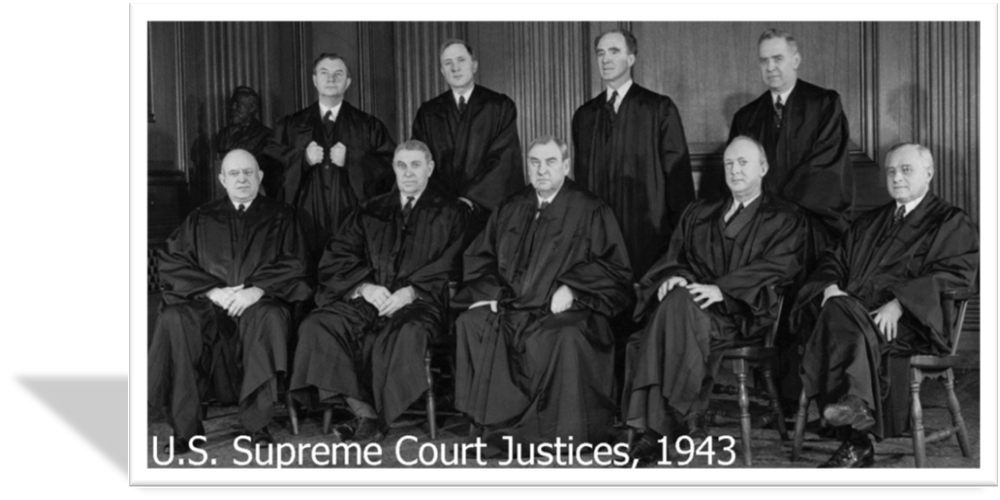 Portrait of U.S. Supreme Court Justices in 1943