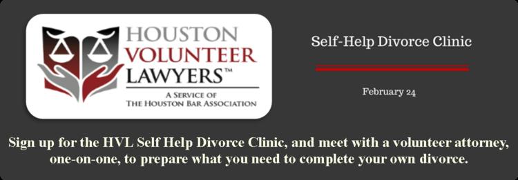 Houston volunteer lawyers self help divorce clinic harris county houston volunteer lawyers self help divorce clinic harris county law library solutioingenieria Images