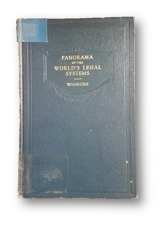 Harris County Law Library's copy of Wigmore's Panorama of the World's Legal Systems.