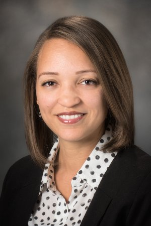 Portrait of Allison O. Bashir, manager of diversity and inclusion at UT MD Anderson Cancer Center.