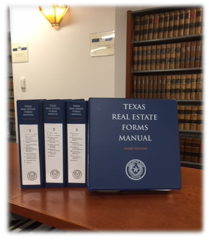 A Project of the Real Estate Forms Committee of the State Bar of Texas  Published by TexasBarBooks  KFT 568 .S7 2017