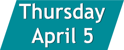 Click to access programs that took place on Thursday, April 5.