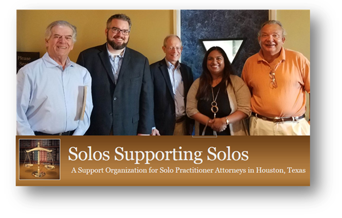 Photo of Law Library Deputy Director with members of Solos Supporting Solos