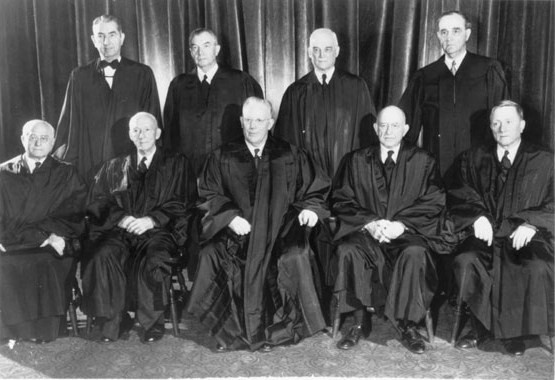 The 1953 Warren Court attempted to desegregate American schools through its  Brown  ruling.