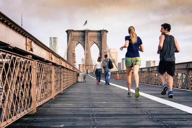 Brooklyn Bridge Running Path