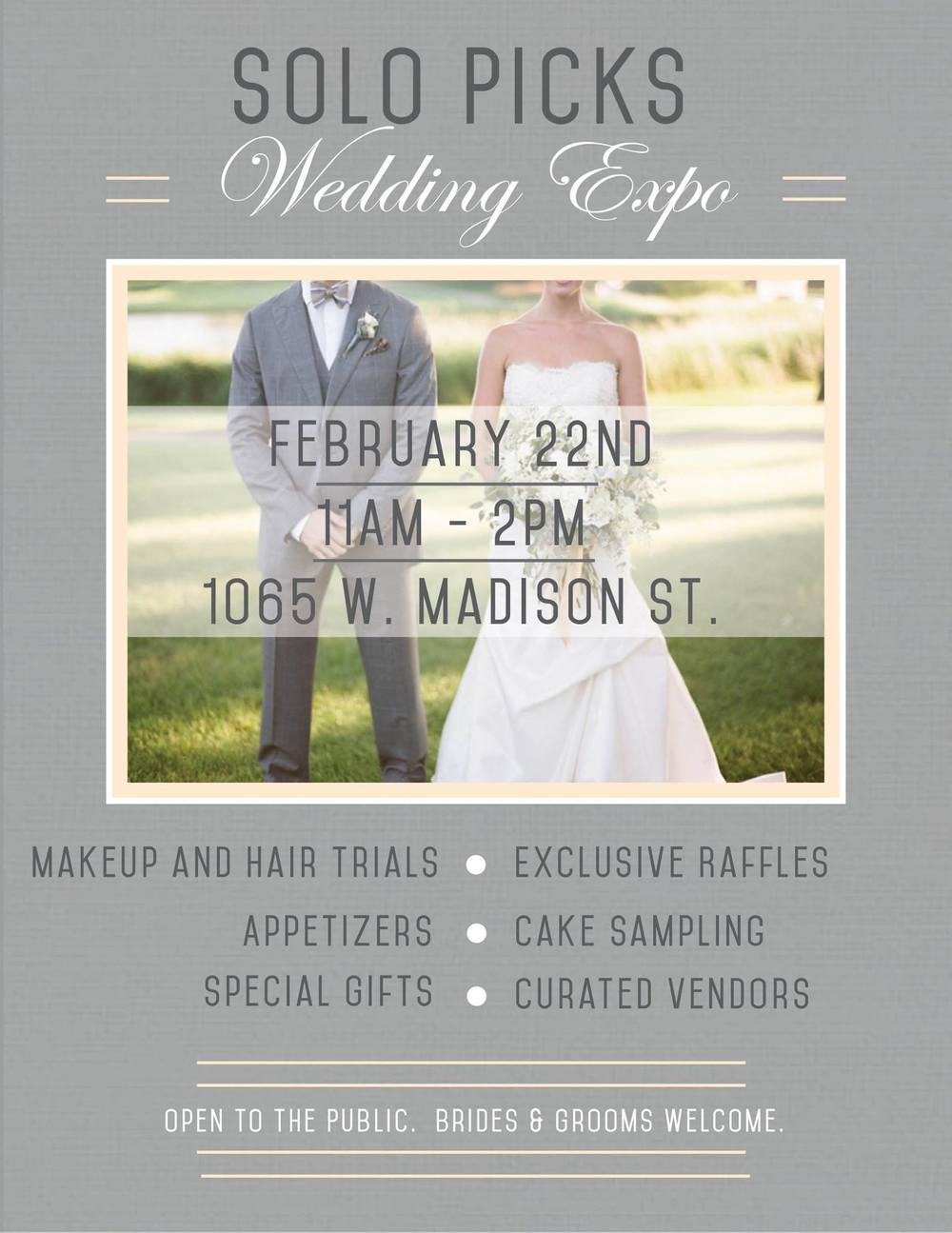 Solo Salon Wedding Expo Invite