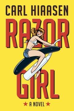 Lise is enjoying Razor Girl by Carl Hiaasen