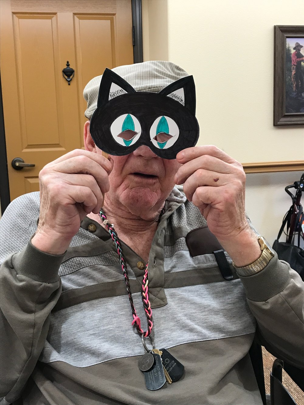 Ed and his cat mask!