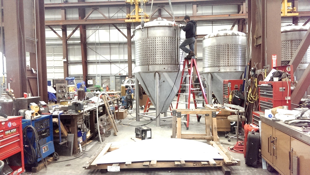 We had the luxury of visiting the brewery equipment manufacturer in Vancouver, WA and checking our their workshop