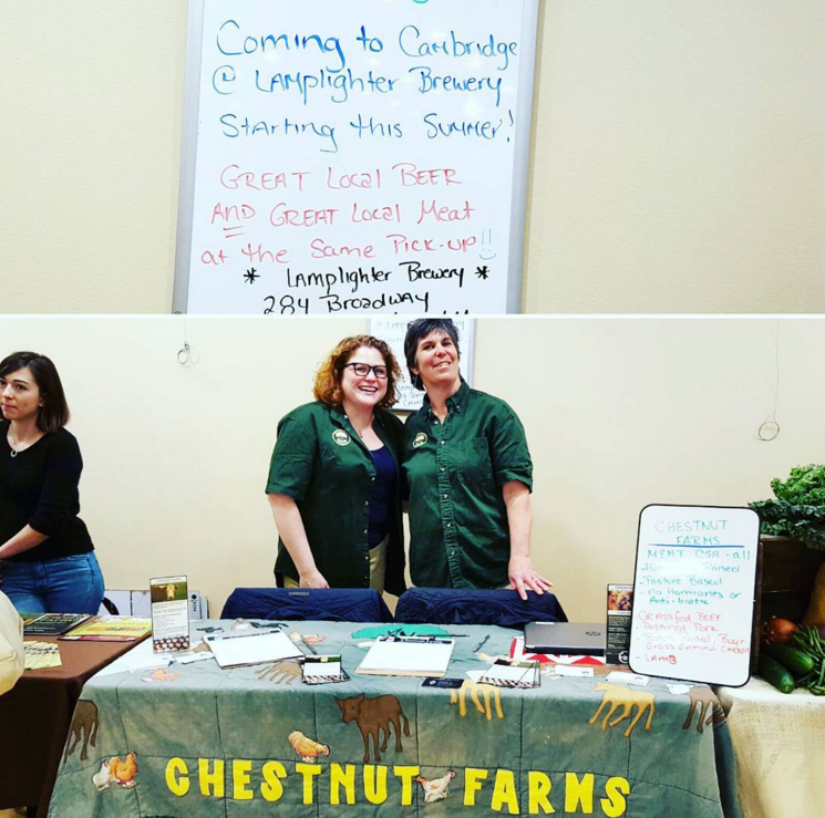 And we partnered with Chestnut Farms to host their meat CSA this summer! Yum yum