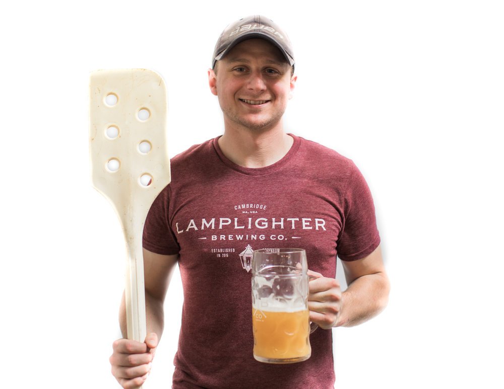 SIMON FLAIM    Brewer   After leaving his hometown of Philly, Simon learned the essentials of making beer at Sam Adams and Cape Cod Beer. He's taken on the role of brewer at Lamplighter, and can normally be found lugging around kegs, grain, and heaps of hops in our brewhouse.