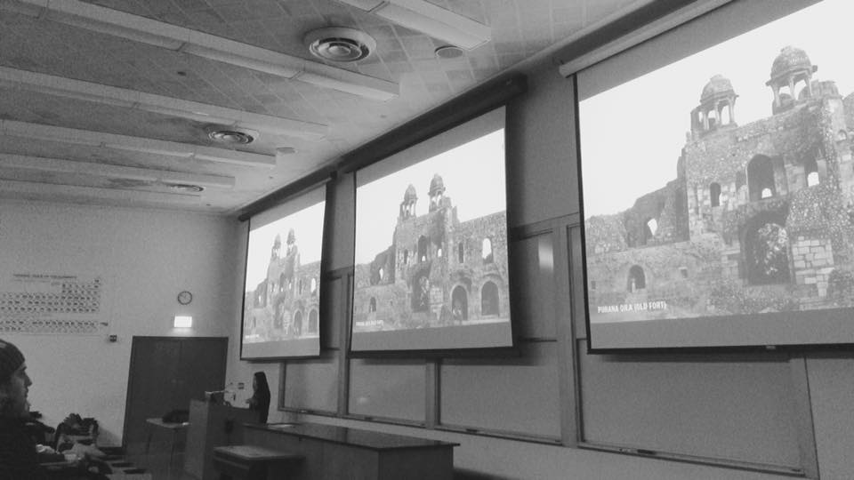 "CITY OF EDGES at the Illinois Institute of Technology Aneesha Dharwadker lectured in Professor Joseph Clarke's undergraduate lecture course ""Metropolis: The Architectural Discourse of the City."""