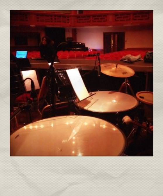Recording timpani for Sugar Train
