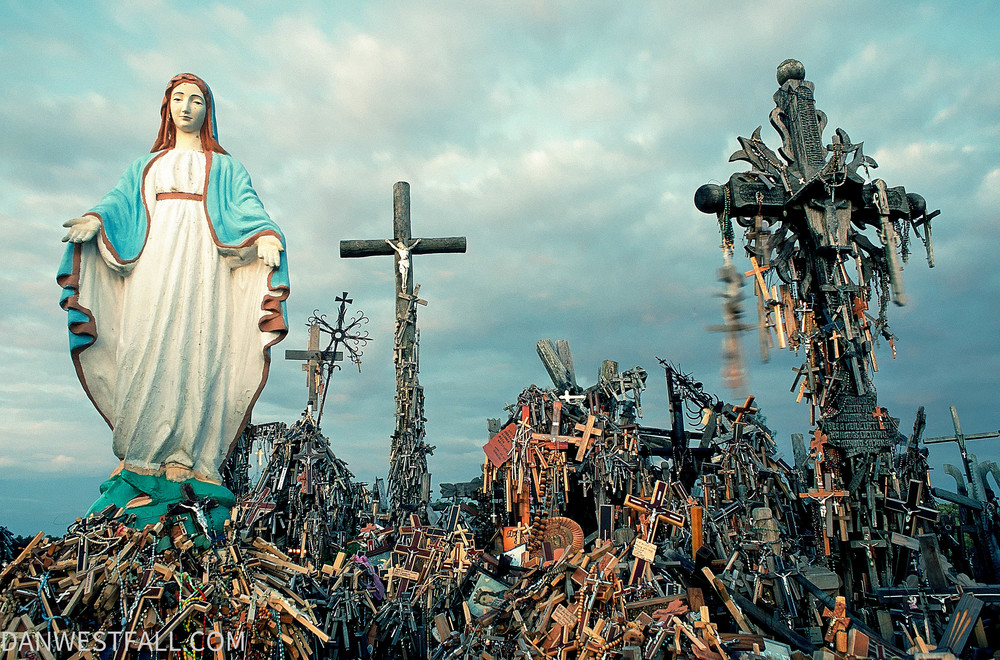 Lithuania. Hill of Crosses Mary. #0227