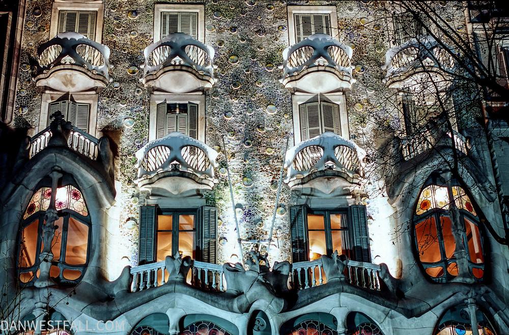 Barcelona. Casa Batllo at night. #0224