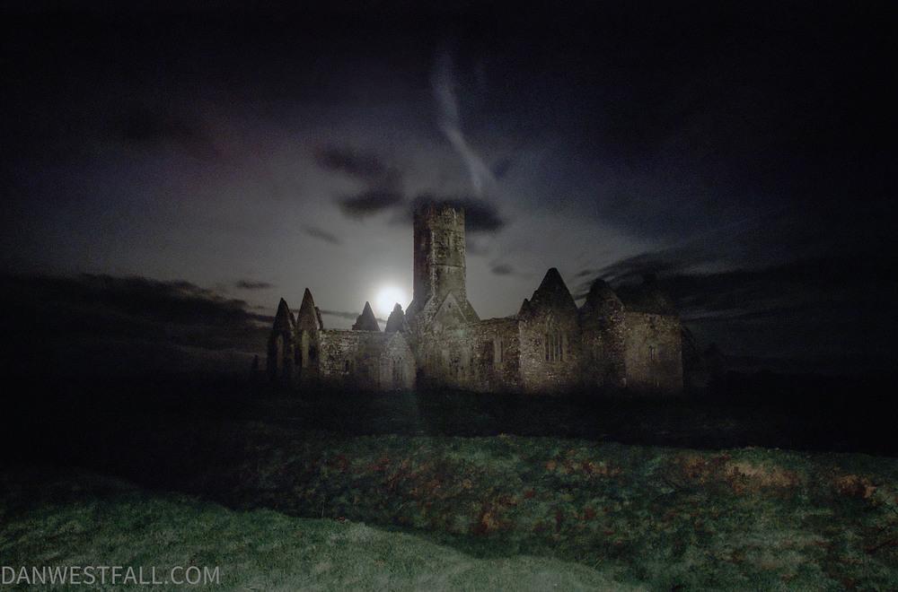 Ireland. Ross Abbey at night. #0204