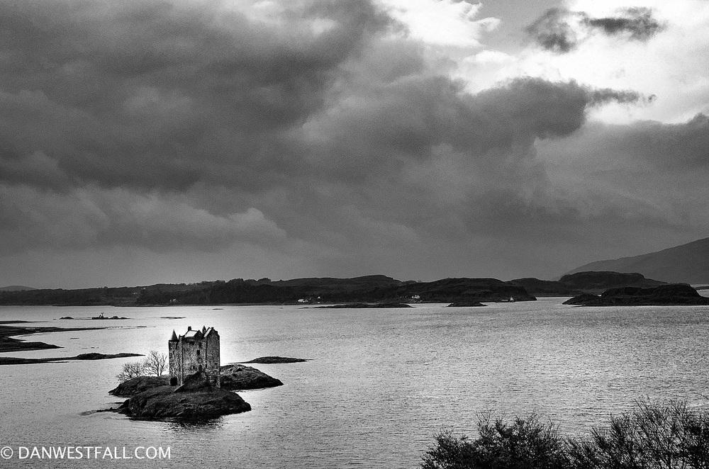 Scotland. Stalker Castle B/W. #0624
