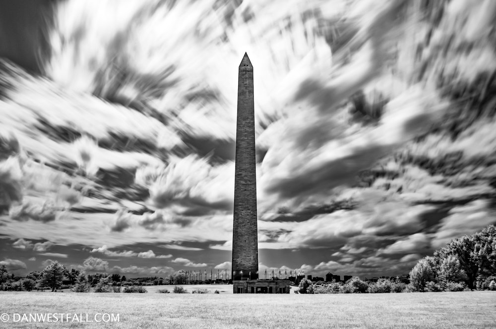 Clouds in chaos! Washington Monument infrared. #0672
