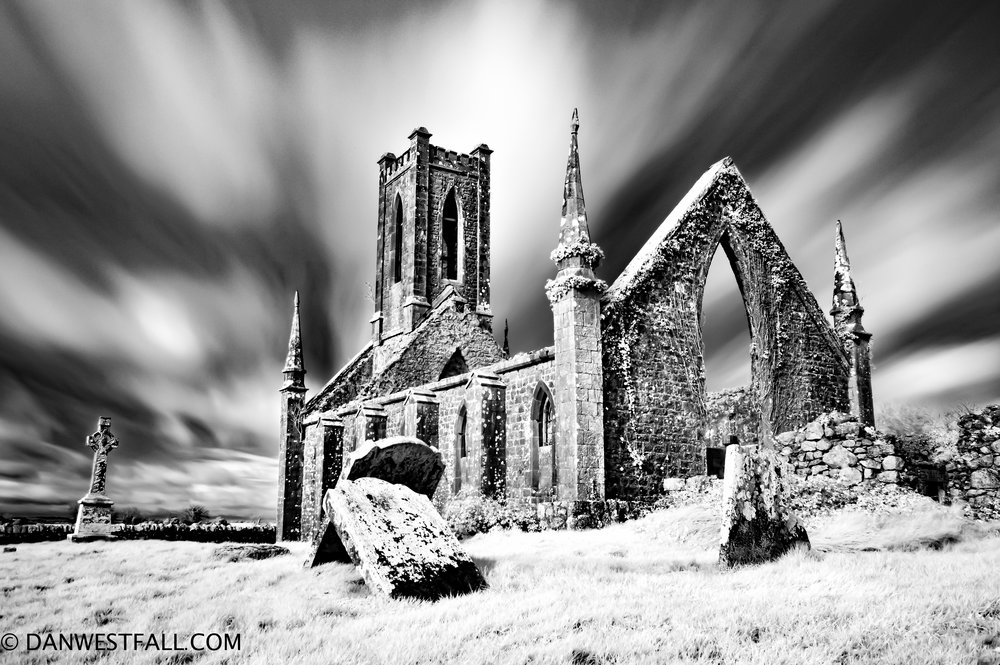 Ireland. Church Ruin 2. Infrared. #0675